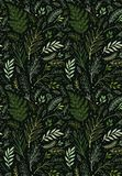deseniowa bezszwowa wiosna E t?a t?a projektu karty kwiecista ilustracja greenfield r?ka patroszona ilustracja wektor