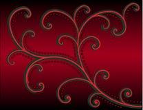 deseniowa czerwień ilustracji