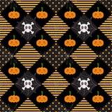 Deseniowa Halloweenowa geometria ilustracji