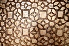 Deseniowa kamienna ściana browen kolor, tło zdjęcia stock