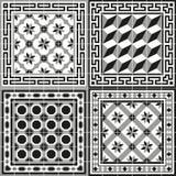 Deseniowa klasyczna stara europejska tradycyjna podłogowa płytka ilustracji