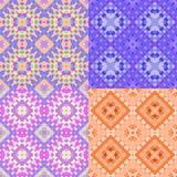 Deseniowa kolorowa geometryczna pomarańcze okrąża bezszwowego Wektorowy illu Fotografia Royalty Free
