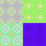 Deseniowa kolorowa geometryczna zieleń okrąża bezszwowego Wektorowy Illust Zdjęcia Stock