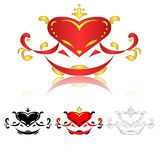 deseniowa serce czerwień Fotografia Royalty Free