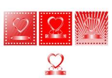 deseniowa serce czerwień Zdjęcia Stock