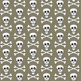deseniowe bezszwowe czaszki royalty ilustracja