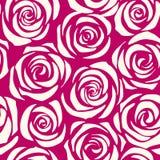 Deseniowe bezszwowe róże Zdjęcie Stock