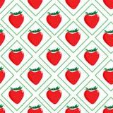 deseniowe bezszwowe truskawki Obrazy Royalty Free