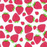 deseniowe bezszwowe truskawki słodkie truskawki Zdjęcie Stock
