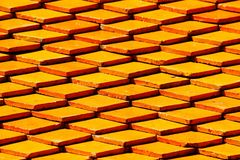 Deseniowe dachowe płytki tekstury i wzoru tło Zdjęcia Royalty Free