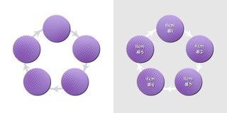deseniowe diagram purpury Zdjęcie Royalty Free