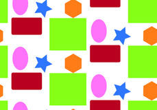 Deseniowe geometryczne postacie Obraz Stock