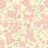 deseniowe Japończyk rośliny Obrazy Royalty Free