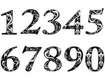 Deseniowe liczby Zdjęcie Stock