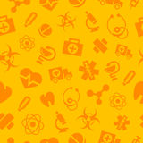 Deseniowe medyczne monochromatyczne ikony Fotografia Stock
