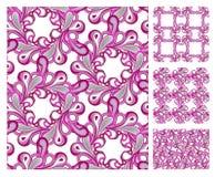 deseniowe różowe bezszwowe płytki Zdjęcie Stock