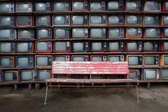 Deseniowe stare telewizje Obrazy Stock