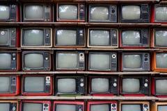 Deseniowe stare telewizje Zdjęcie Royalty Free