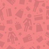 Deseniowe zakupy sklepu ikony Zdjęcia Royalty Free