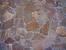 Deseniowego koloru dekoracyjna nierówna krakingowa istna kamienna ściana Obraz Royalty Free