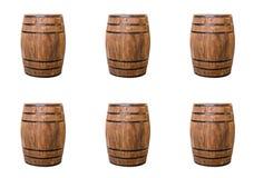 Deseniowego tła handmade lufowy browarniany wino na białym tło rzędzie Obrazy Stock
