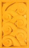 Deseniowego złocistego koloru nadokienny drzwiowy garncarstwo handmade Fotografia Royalty Free
