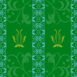 Deseniowej zielonej tło abstrakci tapetowe grafika wektorowe Zdjęcia Royalty Free
