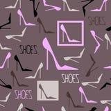 deseniowi bezszwowi buty Zdjęcia Stock