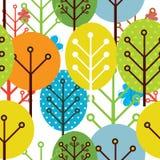 deseniowi bezszwowi drzewa Obrazy Stock