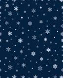 deseniowi bezszwowi płatek śniegu Obrazy Royalty Free
