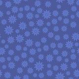 deseniowi bezszwowi płatek śniegu Zimy Bożenarodzeniowa Dekoracyjna tekstura Obraz Stock