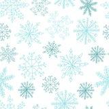 deseniowi bezszwowi płatki śniegu Fotografia Royalty Free