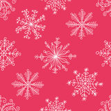 deseniowi bezszwowi płatki śniegu Obraz Royalty Free