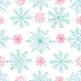 deseniowi bezszwowi płatki śniegu Obrazy Stock