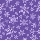 deseniowi bezszwowi płatki śniegu Lily tło Fotografia Royalty Free