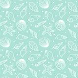 deseniowi bezszwowi seashells Zdjęcie Stock