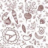 deseniowi bezszwowi warzywa Obrazy Royalty Free