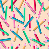 Deseniowi kolorów ołówki 10 eps Fotografia Royalty Free