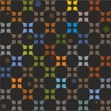 Deseniowi kolorowi elementy na czarnym tle Fotografia Royalty Free