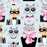 Deseniowi kotów modnisie Zdjęcia Stock