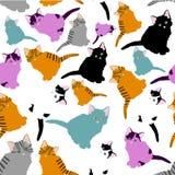Deseniowi koty Obraz Royalty Free