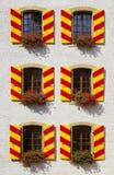 deseniowi Neuchatel grodowi okno obraz royalty free