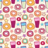 Deseniowi słodcy donuts Zdjęcie Royalty Free