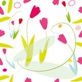 deseniowi tulipany Zdjęcie Royalty Free