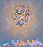 Deseniowy abstrakta wzoru miasto Obrazy Stock
