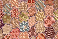 Deseniowy batikowy sekar jagad tło Zdjęcie Royalty Free