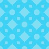 Deseniowy bezszwowy abstrakcjonistyczny geometryczny jaskrawy Krzyż, kwadrat, diament, okrąg Gammy błękit ilustracja Use dla miej ilustracja wektor