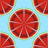 deseniowy bezszwowy arbuz Zdjęcia Royalty Free