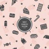 deseniowy bezszwowy cukierki Stylowy mieszkanie Tło dla use w projekcie Obraz Royalty Free