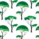 deseniowy bezszwowy drzewo Ilustracja Wektor
